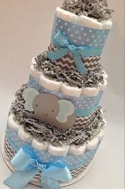 chevron elephant diaper cake diaper cake diaper cakes blue and