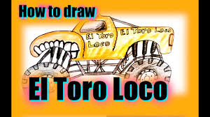 grave digger monster truck poster how to draw el toro loco monster truck monster jam youtube