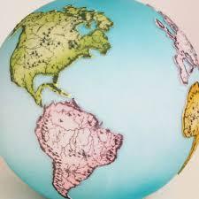 World Map Stencil by Antique Globe Mesh Stencil