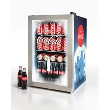 coca cola fridge glass door nostalgia coca cola 2 4 cu ft 80 can limited edition commercial