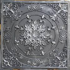 pl18 faux tin ceiling tiles antique color 3d embossed cafe