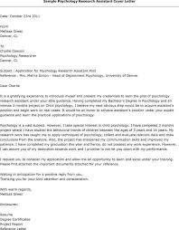 best ideas of sample cover letter for psychology professor