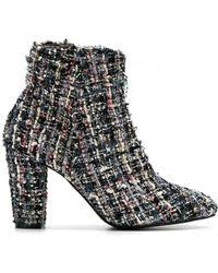 ugg s adirondack tweed boots ugg adirondack tweed shearlinglined leather boots in white lyst