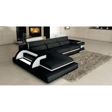Canape D Angle Blanc Et Noir Canapac Dangle Canape D Angle Cuir Beige Canapa Sofa Divan Canapac Dangle Noir Et