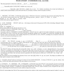 download wisconsin commercial lease agreement form for free tidyform