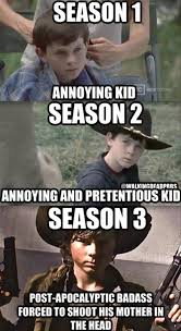 Carl Walking Dead Meme - carl grimes the walking dead he went from from super annoying and