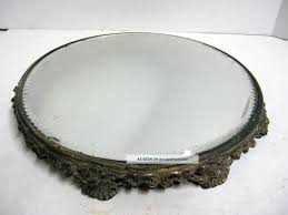 Antique Vanity Mirror Decorating Antique Gold Mirrored Tray For Home Accessories Ideas