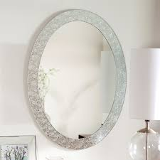 art deco oval wall mirror composing the idea about the beautiful