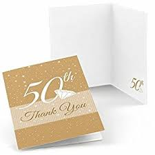 50th anniversary anniversary thank you cards 8