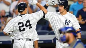 Aaron Judge Gary Sanchez Struggle In Game 1 Loss To Indians Newsday - gary sanchez greg bird and aaron judge are here to obliterate
