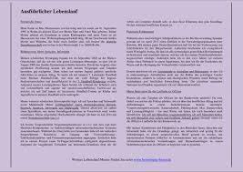 Lebenslauf Vorlage Normal Ausfã Hrlicher Lebenslauf â Formulierungen Und Muster