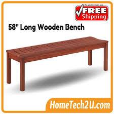 meranti 58 u0027 long wooden bench chair end 11 15 2018 8 15 pm