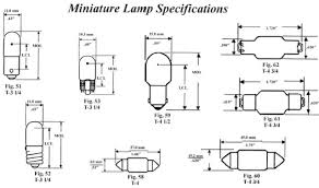 automotive light bulb sizes automotive general t10 wedge oem visual bulb specifications wattage