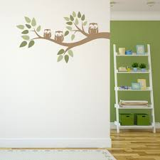 Baby Nursery Tree Wall Decals by Three Owls On A Branch Wall Decal