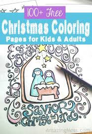 100 free christmas coloring pages kids adults