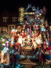 house with christmas lights at night dyker heights new york