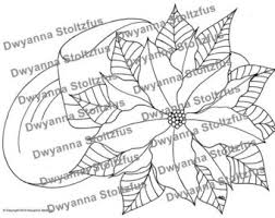 poinsettia coloring pages texas coloring etsy