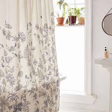 Plum And Bow Curtains Plum Bow Scattered Flowers Shower From Outfitters