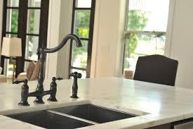 bridge style kitchen faucets two handle bridge style kitchen faucet with matching side spray