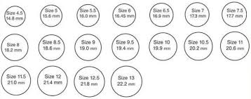 size 9 ring size chart tessellate co