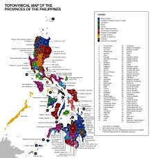Philippine Map X Post R Etymologymaps Toponymical Map Of The Provinces Of The