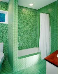 Mosaic Bathroom Ideas Wondrous Green Mosaic Tiles Bathroom Wall Combined With White