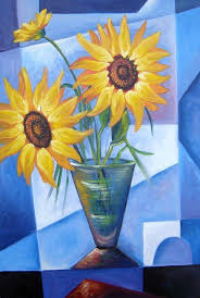 cubism flower painting flower 7 adrian doni