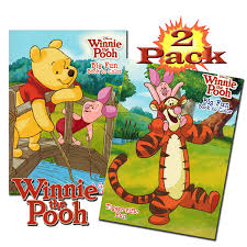 amazon com disney winnie the pooh coloring and activity book set