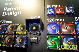 120mm rgb case fan computex 2015 thermaltake s new w200 case wants you to go big or go