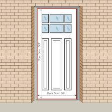 Custom Size Exterior Doors How To Measure Your Front Entry Door Replacement Exterior Doors