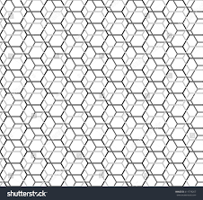 hexagon seamless pattern islamic background abstract stock vector