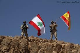 Hezbollah Flag Lebanese Army Raises Spanish Flag On Captured Isis Hilltop Paying