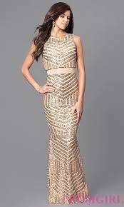 cheap gold sequin long evening dress promgirl