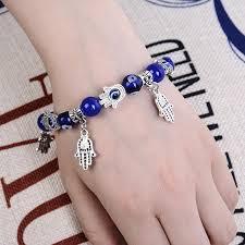 diy hand bracelet images Fashion hamsa hand of fatima natural stone beads diy bracelet pave jpg