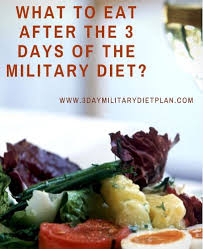 what to eat after the 3 days of the military diet health