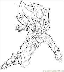 dragon ball gogeta coloring pages kids coloring