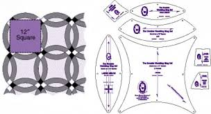 from marti michell rulers and templates double wedding ring