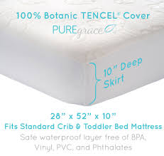 Vinyl Crib Mattress Premium Crib Mattress Protector Naturally Hypoallergenic Mattress