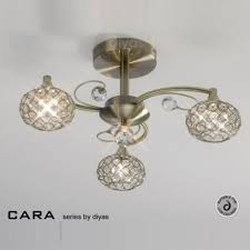 Antique Brass Ceiling Light Il30943 Cara 3 Light And Antique Brass Ceiling Light