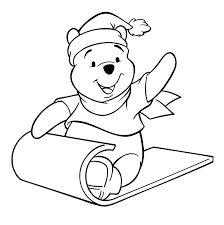 the pooh christmas coloring pages