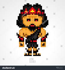 pixel character hades greek mythology gods stock vector 287045774