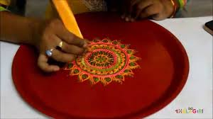 Home Decoration Ideas For Diwali Diy How To Decorate A Thali For Diwali Youtube