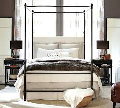 Wrought Iron Canopy Bed Metal Canopy Bed Frame Furniture Of Arched Upholstered Metal