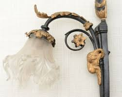Goat Decor Antique French Louis Xvi Bronze Wall Sconce Lamp Shade And Goat