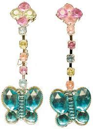 kids butterfly jewel earrings
