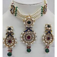 pearl jewellery set costume fashion jewelry shradha