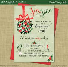 holiday engagement party invitaton winter rustic modern