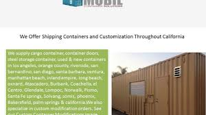 mobil container solutions modified shipping containers on vimeo