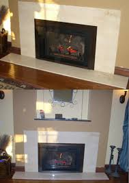modern fireplace granite surround with alcove above jobs done