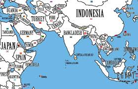 clear world map with country names maps kottke org